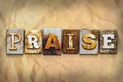 Stock Illustration of Praise Concept Rusted Metal Type