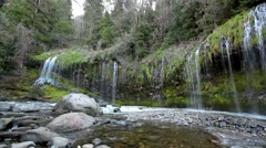Weeping walls of Mossbrae falls - stock footage
