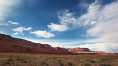 Red rock mountain landscape near the grand canyon Stock Footage