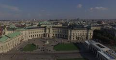 Stock Video Footage of Flying above Imperial Palace  Hofburg, Vienna