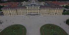 Impressive Schönbrunn Palace in Vienna (Aerial, 4K) Stock Footage
