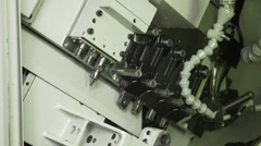 Close up of installing cutting tool Stock Footage