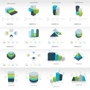 Geometry  infographic template set Stock Illustration