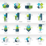 Geometry cube infographic template Stock Illustration