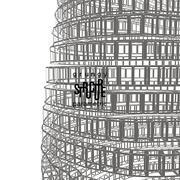 Grunge parametric structure. Vector design. - stock illustration