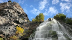 Bridal Veil falls in provo canyon utah Stock Footage