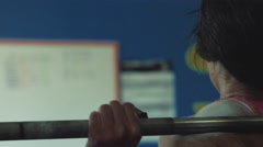 4k Close up of Woman Weightlifting Stock Footage