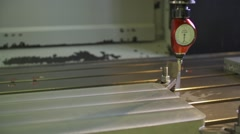 Calibrating process of CNC machine Stock Footage