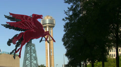 Pegasus Horse Reunion Tower Stock Footage