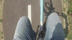 bucycle pedaling - stock footage