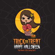 Halloween Trick or Treat Thai Ghost Stock Illustration