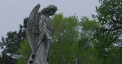 Stock Video Footage of Cemetery Angel
