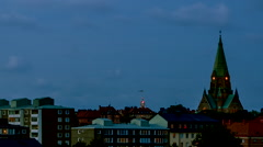 Sofia church Timelapse stockholm 1110 Stock Footage