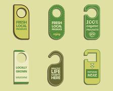 Stylish Farm Fresh, Organic brand door badge, sticker templates. Bio, eco theme Piirros