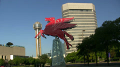 Pegasus Horse Reunion Tower In Downtown Dallas Stock Footage