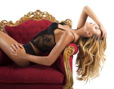 Sexy luxury woman Stock Photos