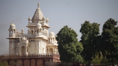panoramic view Jaswant Thada jodhpur - stock footage