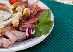 Cold Cuts and Cheese Snack Time - stock photo