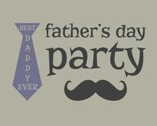 Stock Illustration of Father s day greeting template. mustache. Unusual funny concept. Best daddy ever