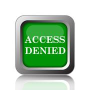 Access denied icon. Internet button on black background.. Stock Illustration