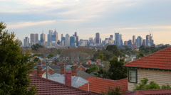 Melbourne, Australia city skyline. Stock Footage