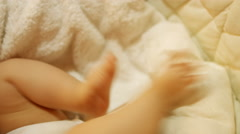 Small child. Cute little baby legs. 4K 30fps ProRes (HQ) Stock Footage