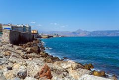 Heraklion Bay and Promenade, Crete Stock Photos