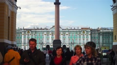 State Museum Hermitage And Palace Square Stock Footage