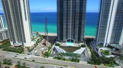 Aerial video Jade Beach and Jade Ocean Stock Footage