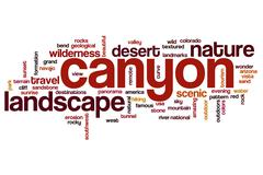 Canyon word cloud concept - stock illustration