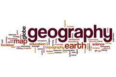 Geography word cloud concept - stock illustration