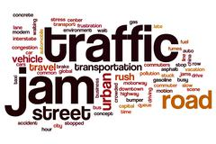 Stock Illustration of Traffic jam word cloud concept