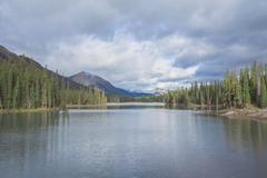 Grotto Lake Landscape Stock Photos