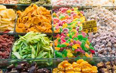 Dried Fruits and Sweets Stock Photos