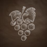 Stock Illustration of grapes icon