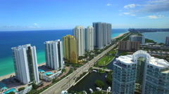 Sunny Isles Beach FL Aerial video 6 Stock Footage