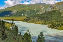 Akkem Valley. Altai. Russia Stock Photos
