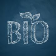 bio sign icon - stock illustration