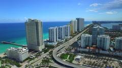 Sunny Isles Beach FL Aerial video 5 Stock Footage