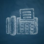 fax icon - stock illustration