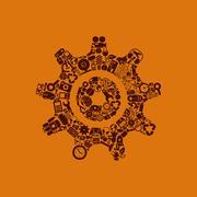 cogwheel icon - stock illustration