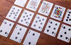 Spades Set of playing cards - stock photo
