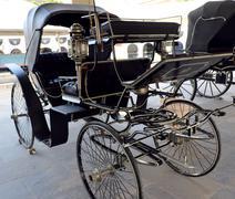 Antique horse drawn buggy Stock Photos