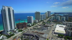 Sunny Isles Beach FL Aerial video 4 Stock Footage
