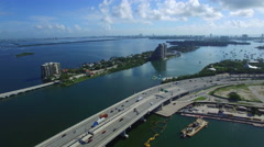 Aerial video of the Venetian Islands Stock Footage