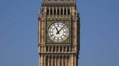 The Elizabeth Tower (in 4k), popularly called Big Ben, London, UK. - stock footage