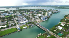 Aerial video Bay Harbour islands Miami Beach 2 Stock Footage
