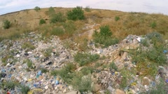 Garbage And Wastes At Spontaneous Landfill At Suburbs In Ukraine - stock footage