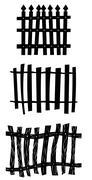 Fence Set Stock Illustration