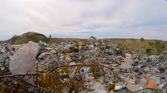 Heaps Of Domestic Garbage At Landfill In Ukraine - stock footage